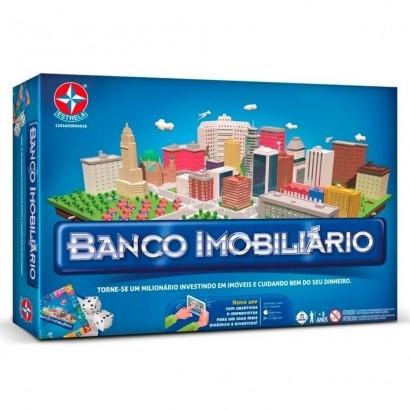 Jogo Classico Banco Imobiliário Com Aplicativo App - Estrela
