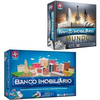 Jogo Classico Banco Imobiliário Tabuleiro - Estrela