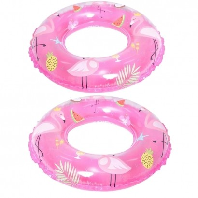 KIT 2 Boias de Criança Piscina Praia Verão 50cm Flamingo