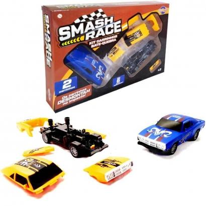 Kit 2 Carrinhos de Fricção Bate e Quebra Brinquedo Infantil Criança Smash Race Toyng