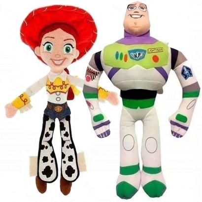 Kit 2 Pelúcia Buzz e Jessie Toy Story Com Som