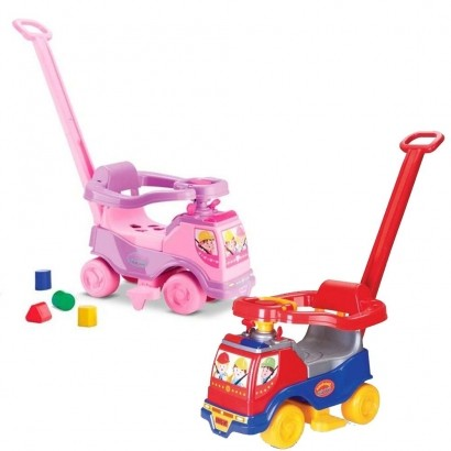 Kit 2 Totoka Plus 1 Menino e 1 Menina Carrinho De Passeio Quadriciclo Infantil
