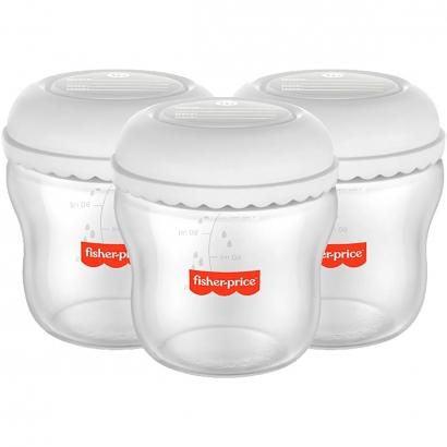Kit 3 Frascos para Armazenar Leite Materno 150ml Mom's Essentials Livre de BPA - Fisher Price BB1077