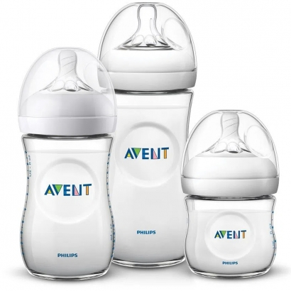 Kit 3 Mamadeiras Avent Anticolica 125/260/330ml Bico Silicone Ultra Suave Flexivel Philips Pétala