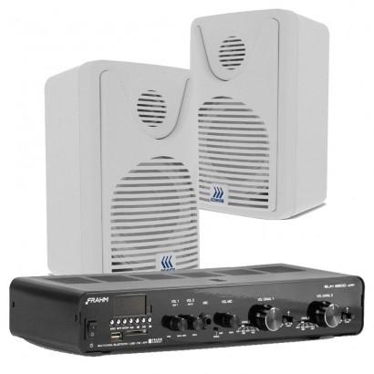 Kit Amplificador Receiver Slim 2500 App + 6 Caixa Foco 35 Branca
