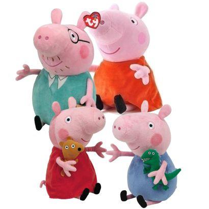 Kit Boneco Familia Peppa Pig de Pelucia