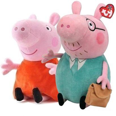 Kit Boneco Papai e Mamãe da Peppa Pig de Pelucia