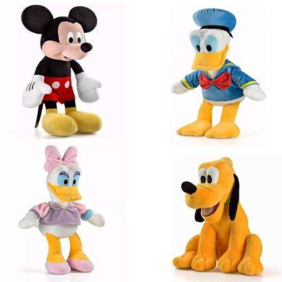 KIT Bonecos de Pelucia Margarida, Pato Donald, Mickey, Pluto
