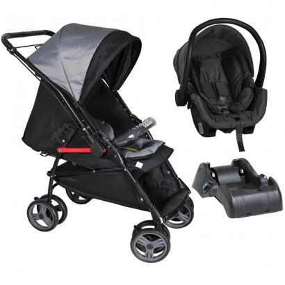 Kit Carrinho de Bebê Passeio Reversível Maranello II Galzerano + Bebê Conforto Cocoon Até 13Kg + Base