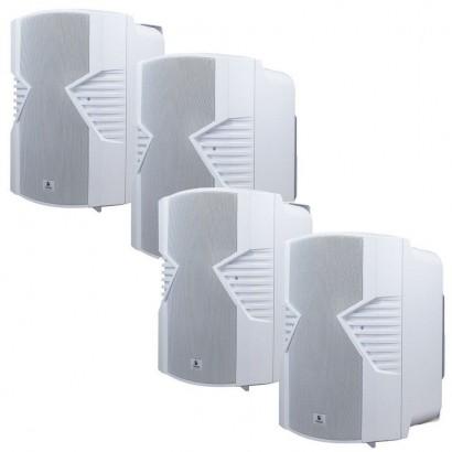KIT com 4 Pares de Caixas Passivas Acústicas Frahm Ps 5s Branca
