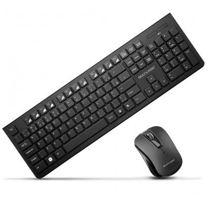 Kit Combo Teclado E Mouse Sem Fio Usb Slim Tc212
