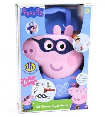 Kit Maleta Peppa Pig George Super-herói com Acessórios Dtc 4610