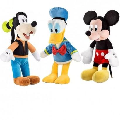 Kit Pelúcia Pato Donald + Mickey + Pateta Com Som 33cm