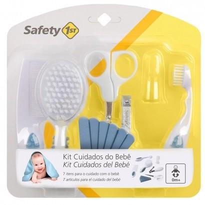 Kit Primeiros Cuidados de Seu Bebê Pente Escova Cortador de Unha Tesoura - Safety 1st
