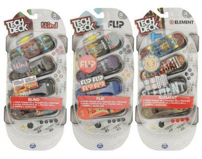 Kit Tech Deck 4 Pack Multipack Skate de Dedo Modelo Variado BR338