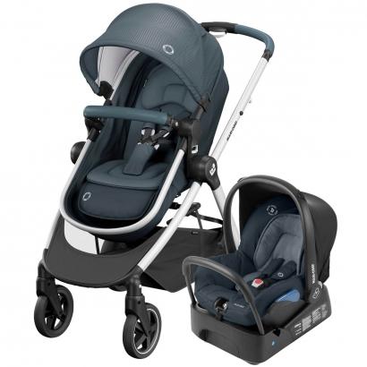 Kit Travel System Maxi Cosi Anna² Essential Graphite Carrinho Passeio + Bebê Conforto + Base