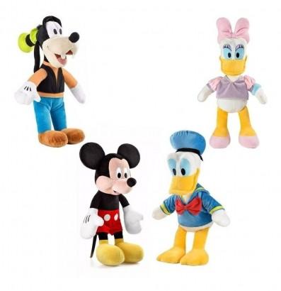 KITLJ - 4 Pelúcias Infantil Disney Margarida, Donald, Pateta, Mickey