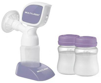 Kit Bomba de Tirar Leite Elétrica Para Mamães + 2 Recipentes para Armazenamento