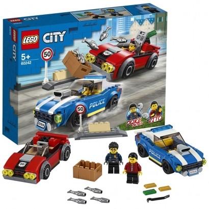 Lego City Infantil Detenção Policial na Autoestrada 185 Peças +5 Anos