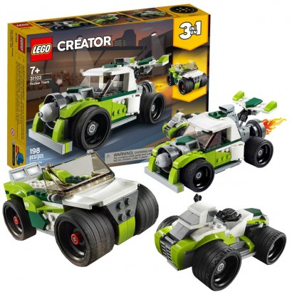 Lego Creator Infantil Caminhão Foguete 3 em 1 198 Peças +7 Anos