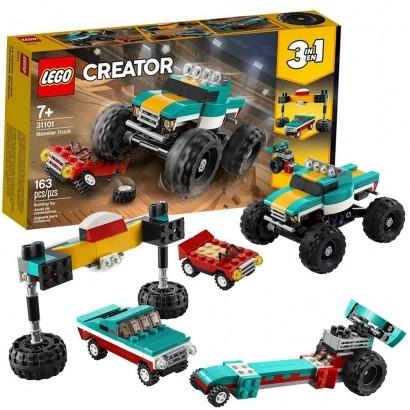 Lego Creator Infantil Caminhão Gigante 3 em 1 163 Peças +7 Anos