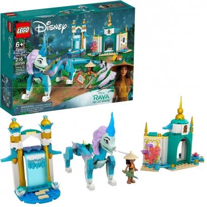 Lego Disney Raya e o Dragão Sisu com 216pçs Para 6+ Anos