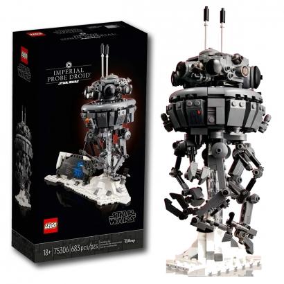 Lego Star Wars Imperial Probe Droid Sonda Figura Colecionável 683 Peças O Império Contra-Ataca +18 anos