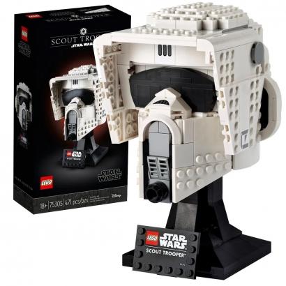 Lego Star Wars Scout Trooper Capacete 18cm Figura Colecionável 471 Peças +18 anos