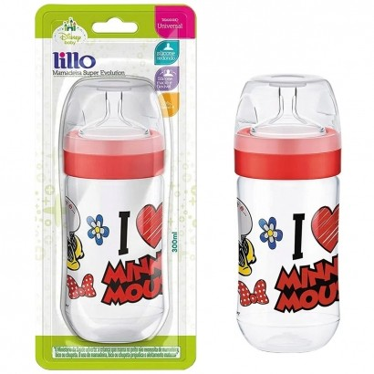 Mamadeira Bebê Evolution Disney Antivazamento 300ml Lillo