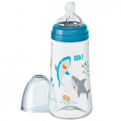 Mamadeira de Bebê Anticólica Smart Fluxo Rápido 300ml Para +6 Meses Lilllo