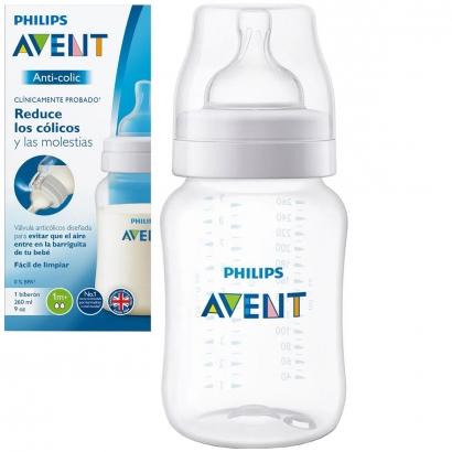 Mamadeira de Bebê Avent Anticólica 260ml +1 Mês - Philips Avent