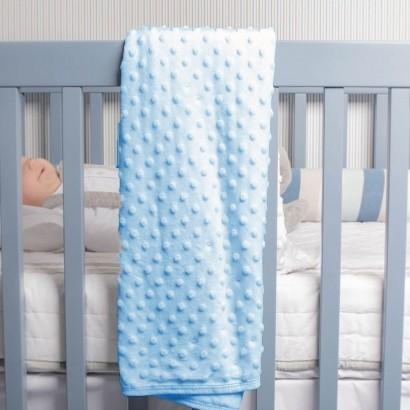 Manta Para Bebê Azul 75x100cm - Infanti