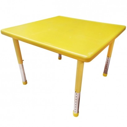 Mesa de Criança Para Atividades A Partir de 1 Ano 60x60x40 cm Amarela - Brinqway