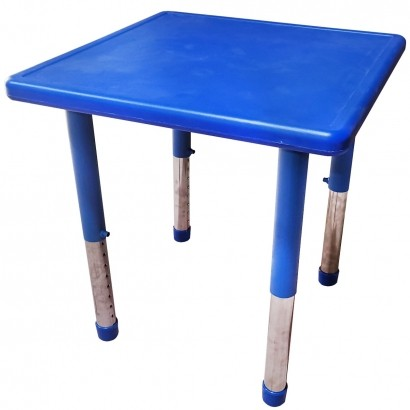 Mesa de Criança Para Atividades A Partir de 1 Ano 60x60x40cm Azul - Brinqway