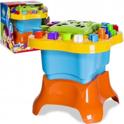 Mesinha de Atividades Infantil Azul com Acessórios em Braille Menino +12 meses Baby Land Cardoso Toys