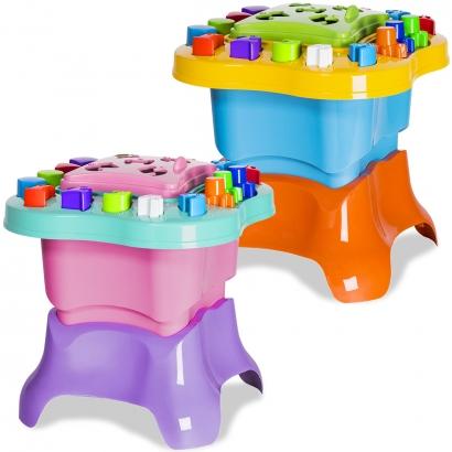 Mesinha de Atividades Infantil com Acessórios em Braille Menino Menina +12 meses Baby Land Cardoso Toys