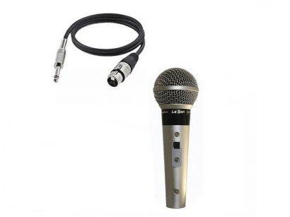 Microfone Com Fio LS 58 Dinâmico LeSon