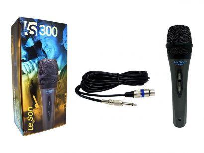 Microfone Com Cabo LS 300 Dinâmico LeSon