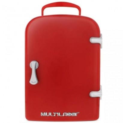 Mini Geladeira Retrô 4 Litros 12v 110v 220v Multilaser Tv007