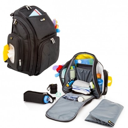 Mochila de Bebe Multifuncional Maternidade Black Pack Safety 1st Preto