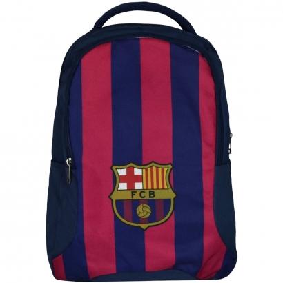 Mochila do Barcelona Escolar Esporte Futebol Dois Bolsos Divisória Interna Dois Porta Garrafas Maccabi Art