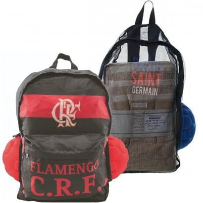 Mochila Do Flamengo Vira Bola e Mochila Dois Bolsos Alça de Mão Alça de Dois Braços Maccabi Art