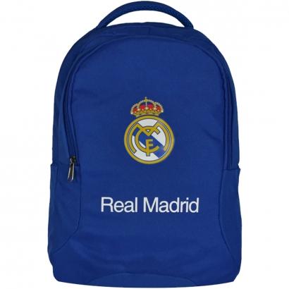Mochila do Real Madrid Escolar Esporte Futebol Dois Bolsos Divisória Interna Dois Porta Garrafas Maccabi Art