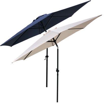 Ombrelone Guarda-Sol Modelo Articulado Central Com Cobertura de 2,70m