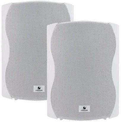 Par Caixa Acústica Som Ambiente Frahm PS5 Plus Branca 100w Residencial