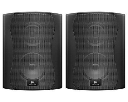 Par Caixa Acústica Som Ambiente Frahm PS5 Plus Preta 100w Residencial
