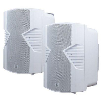 Par Caixas Acústicas PS5S Som Ambiente Branca 80wrms