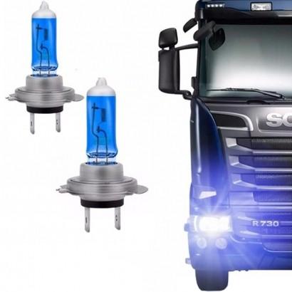 Par de Lâmpada Super Branca Caminhão H7 24V 70W 4200K