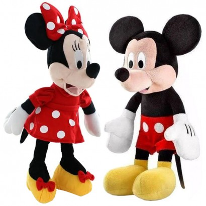 Par de Pelúcias Disney Mickey e Minnie Multikids