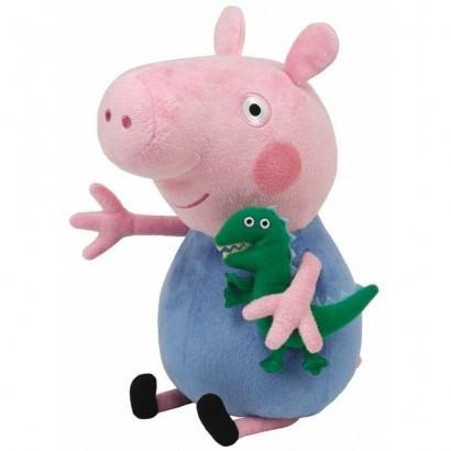 Pelúcia George Irmão da Peppa Pig 30cm Dtc 4536